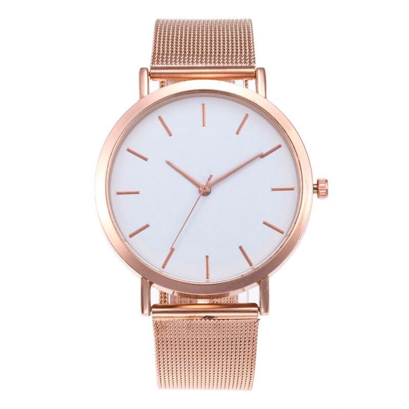 Fashion Women's Stainless Steel Watch Crystal Quartz Wristwatch Bracelet Big Band Luxury Women Watches Reloj Mujer