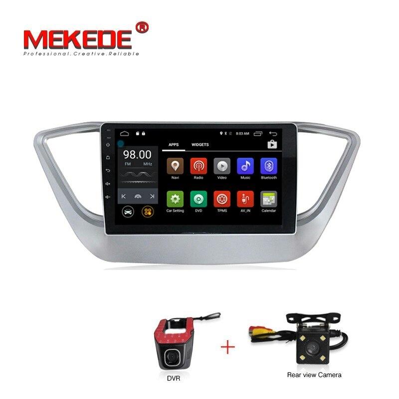 """9 """"1024*600 экран Android 7.1 автомобильный DVD GPS плеер для новой Hyundai Verna 2017 Автомобильные ПК головное устройство автомобиль Радио GPS навигация WIFI BT"""