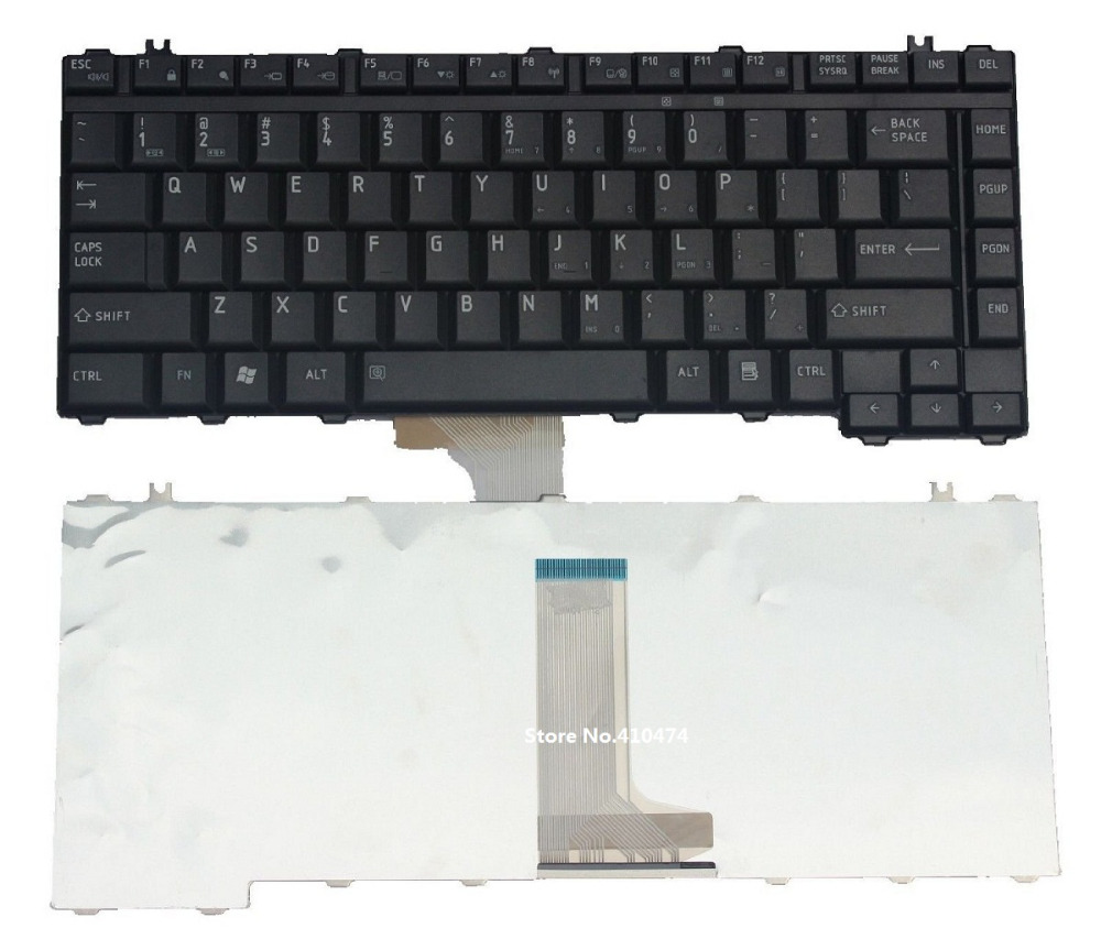 SSEA New US Keyboard for Toshiba Satellite A200 A205 A210 A215 L200 L300 L300D M200 M205 M305 M305D