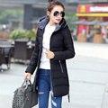Novo 2017 Inverno Mulheres Outerwear Plus Size 6XL Espessamento Casuais de Algodão Acolchoado Jaqueta Feminina Casaco Amassado Parkas Mujer MZ779