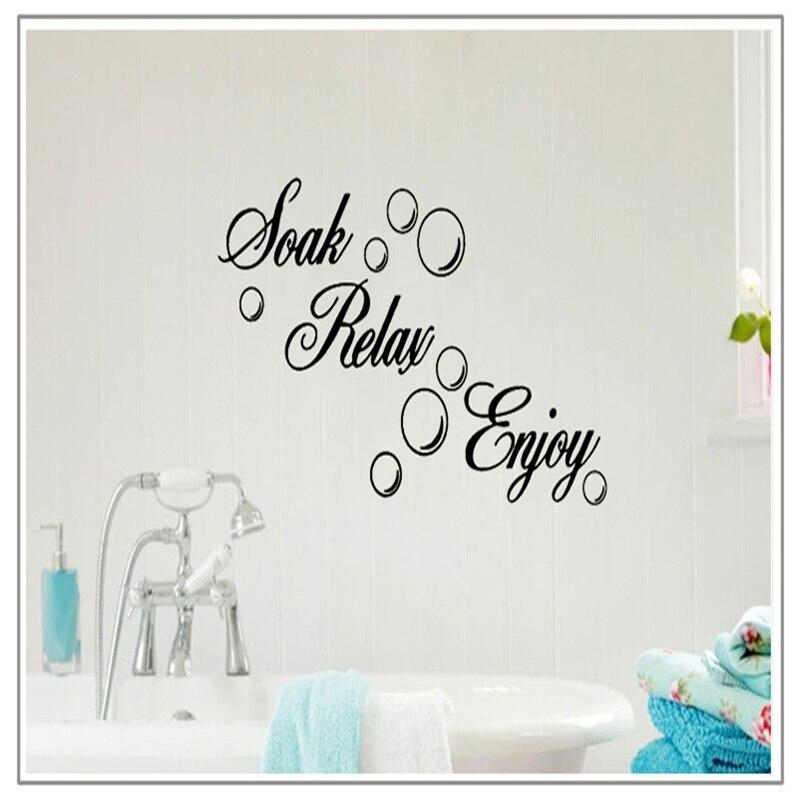 new soak relax godere rremovable wall sticker bubble diy mural wall sticker bagno nero adesivo per
