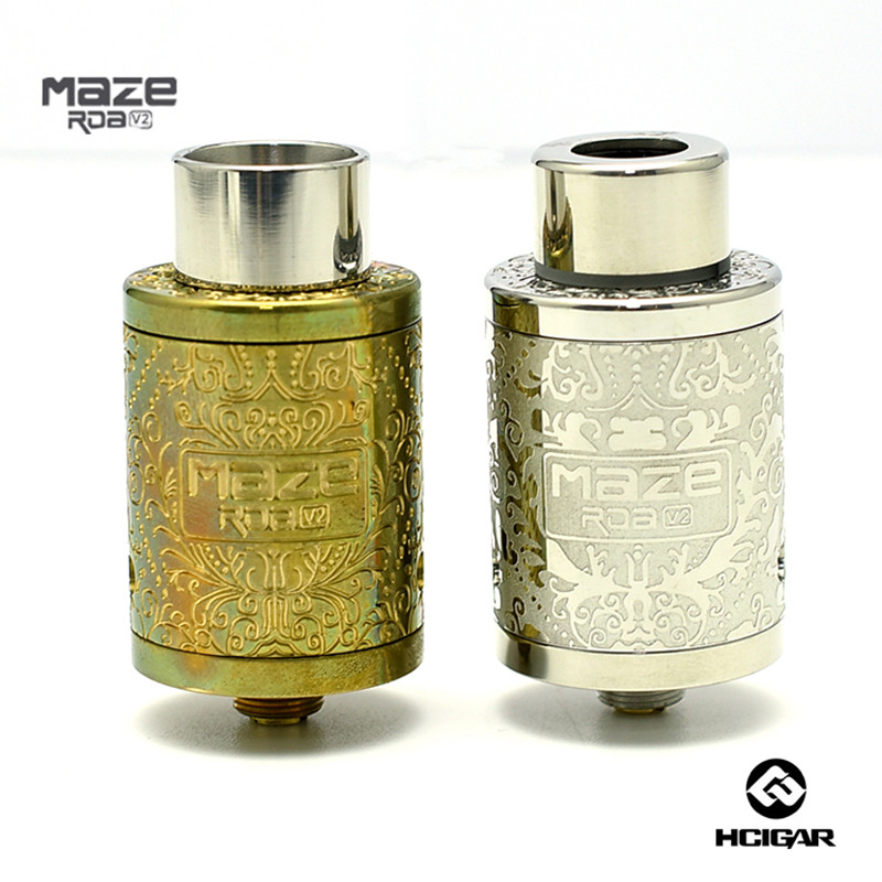 HCigar Maze V2 RDA Atomizer Kennedy-style Airflow Adjustable Deck Rebuildable 22mm diameter DTL Atomizer Bottom Feed