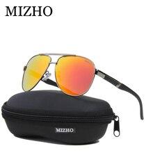 MIZHO Busines Mirror UV Protection Retro Sunglasses Men Polarized Driving Pilot Traveling Luxury Sunglass Women Brand Design
