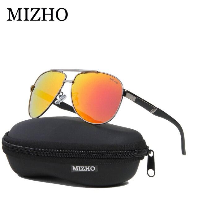 adebb716df5 MIZHO Busines Mirror UV Protection Rose Retro Sunglasses Men Polarized  Pilot Traveling Luxury HD Sunglass Women