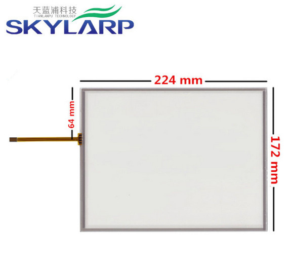 10.4 inch 4 wire 224mm*172mm Resistive Touch Screen Digitizer AMT9105 B touch panel glass Free shipping amt 146 115 4 wire resistive touch screen ito 6 4 touch 4 line board touch glass amt9525 wide temperature touch screen