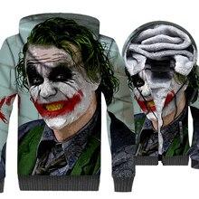 Joker 3D Hoodies Men Batman The Dark Knight The King Joke Sweatshirt 2019 Autumn Winter Streetwear Men's Tracksuit Zipper Jacket цена и фото