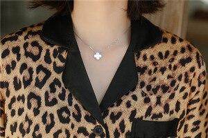 Image 4 - Daeyard femmes soie Satin Pyjamas Sexy léopard boutonné chemises à manches courtes avec Short 2 pièces Pyjamas sommeil salon vêtements de nuit