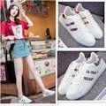 Plataforma de la manera zapatos de Los Planos de Las Mujeres Zapatillas Blancas zapatos Respirables Del Deporte Zapatos de Mujer Casual Zapatos Para Caminar Al Aire Libre Zapatillas Mujer