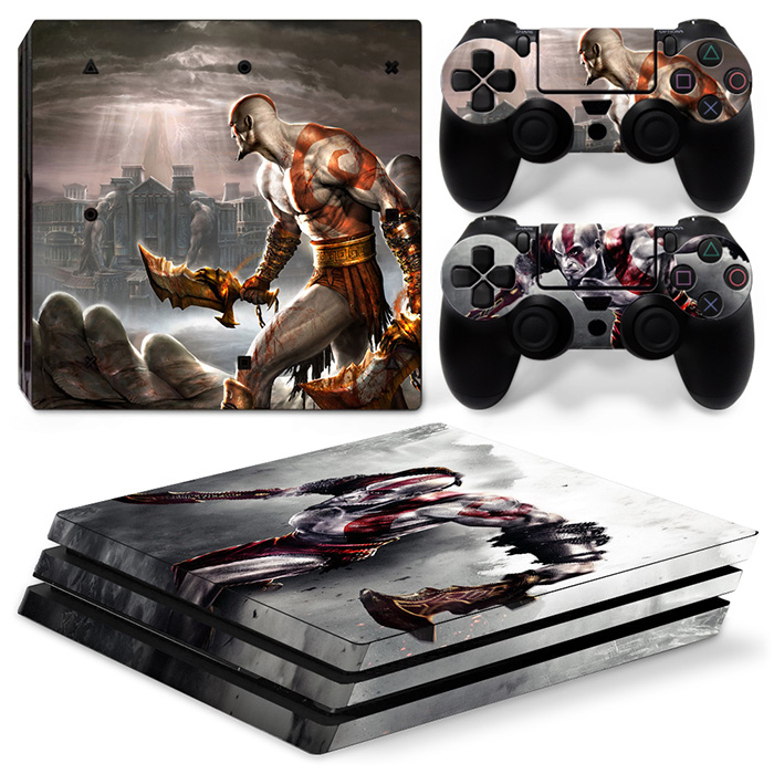 for PS4 Pro Skin Sticker GOD OF WAR 3 Decal For Playstation 4 Pro Console + Controllers TN-P4Pro-0159