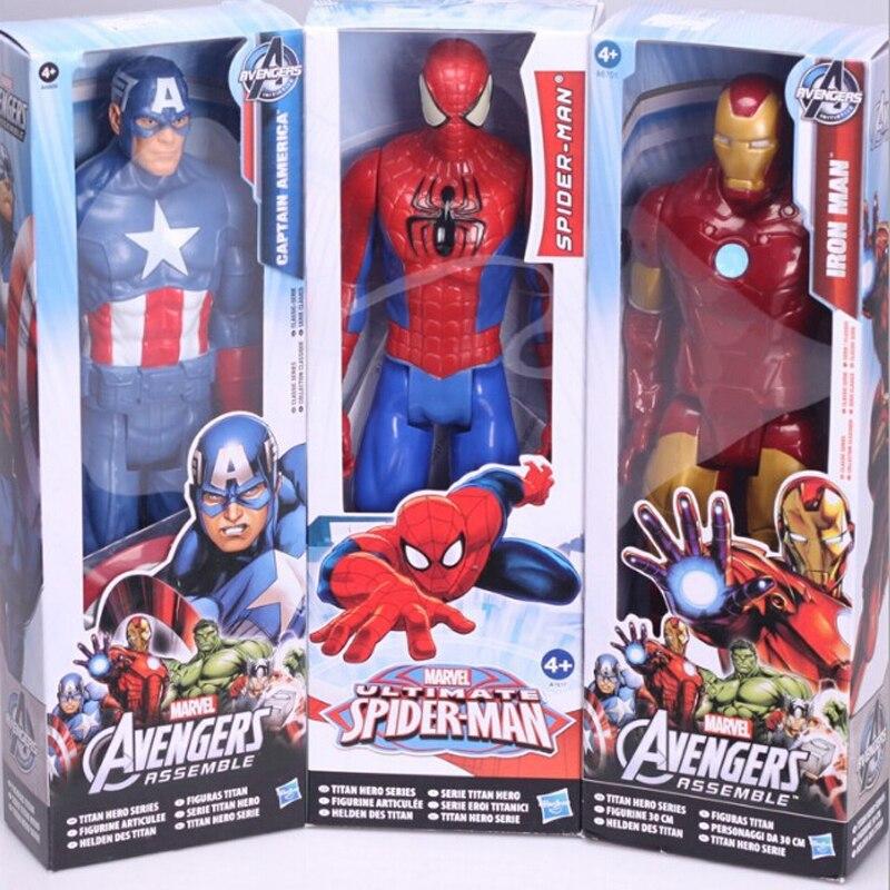 "1 piece Marvel Heros <font><b>Captain</b></font> <font><b>America</b></font> The First Avenger Superhero 12""30CM PVC Action <font><b>Figure</b></font> Toy <font><b>4</b></font> styles for choose"