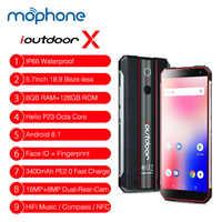 Global ioutdoor X Waterproof Rugged Mobile Phone 5.7 Inch 6GB 128GB ROM Helio P23 Android 8.1 Face ID Unlock NFC Smartphone