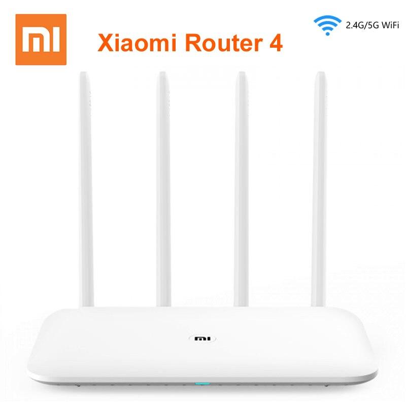 Xiao mi wifi roteador 4 wifi repetidor 1167 mbps banda dupla dupla núcleo 2.4g 5 ghz 802.11ac quatro antenas app controle roteadores sem fio