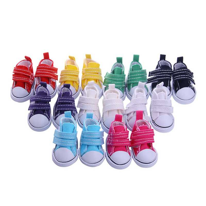 New Style Accessories Shoes 5cm Denim Canvas Mini Toy Shoes1/6 Boots For Handmade Doll
