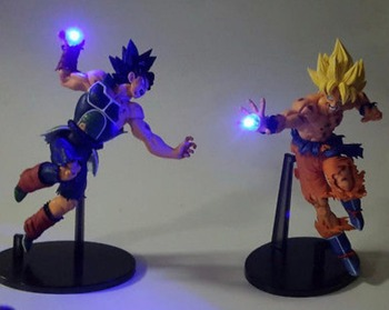 3X  Horizontal Version Dragon Ball Son Goku Spirit Bomb LED Nightlight Classic Cartoon Figure Style Lamp