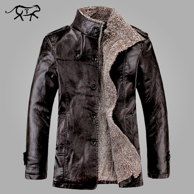 New Brand PU Leather Jacket Men Winter Jackets And Coats Thickening Wool Windbreak Warm Jaquetas De Couro Coat Plus Size M-3XL
