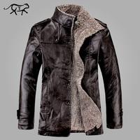New Brand PU Leather Jacket Men Winter Jackets and Coats Thickening Wool Windbreak Warm Jaquetas De Couro Coat Plus Size M 3XL