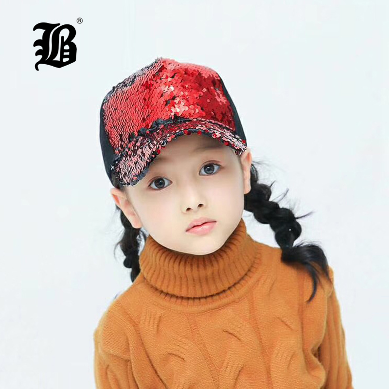 [FLB] Sequins Sun   Cap   For Boys Adult Kids Snapback   Caps   Baby Summer Hat For Children   Baseball     Caps   Boys Girls Hip Hop Hat F159