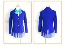 Conjunto completo Maki Nishikino Cosplay lovelive Anime Japonés uniforme de halloween 4 en 1 capa + blusa + falda + pajarita