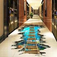 Съемные самоклеющиеся водонепроницаемые 3D настенные декоративные наклейки, наклейки для пола для детской спальни, потолка, гостиной, детск...