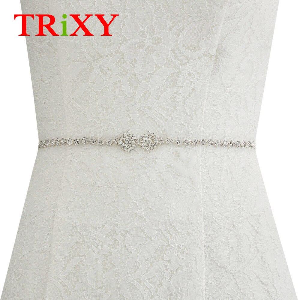 Actief Trixy S304 Handgemaakte Vrouwen Shiny Wedding Riemen Crystal Bridal Riemen Bruids Sjerpen Trouwjurk Riemen Bruiloft Accessoires Een Unieke Nationale Stijl Hebben