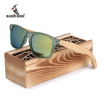 Brand Luxury Polarized Men And Women Polarized Sunglasses Bamboo Wood Holder Sun Glasses With Retail Wood
