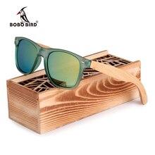 Бобо птица Марка Роскошные Для мужчин и Для женщин поляризационные Солнцезащитные очки древесины бамбука держатель Защита от солнца Стекло с розничной деревянной коробке подарки 2017 G029