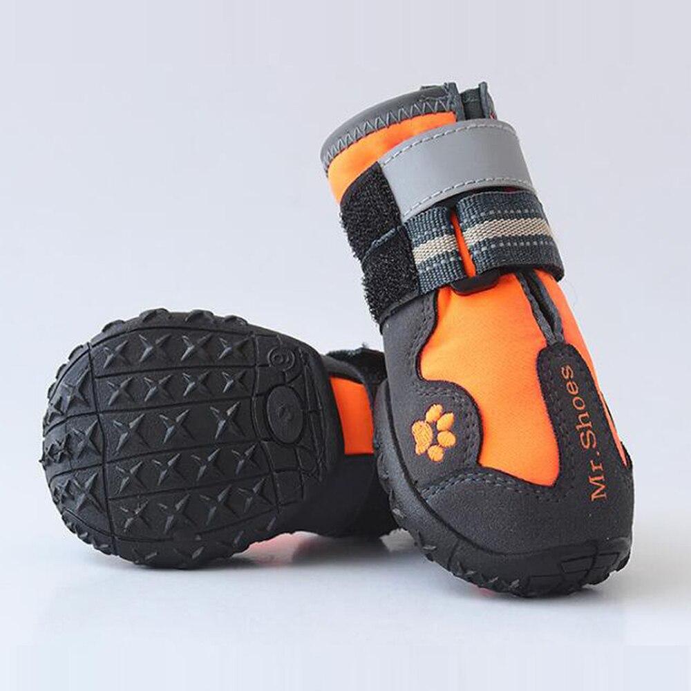 Cão de estimação sapatos para esportes montanha wearable para animais de estimação pvc soles impermeável reflexivo botas para cães perfeito para pequeno médio grande cão