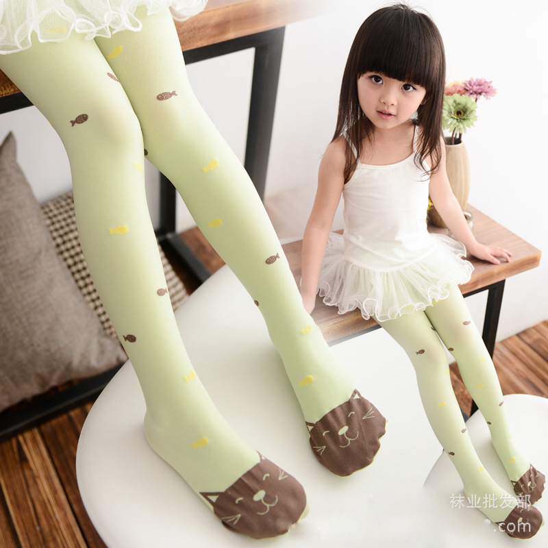 041c3f1f73fc2 Baby Girl Children Tights Cat Pantyhose Girl Spring and Autumn Girl Kid  Tights Cartoon Rainbow Colors Girls Print Fish Tights-in Tights & Stockings  from ...