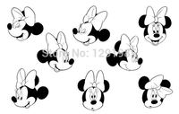 Darmowa wysyłka DIY winylu wallsticker Mickey Mouse okno tapety do pokoju dzieci Balony miłość naklejki naklejki Plakat plakat domu