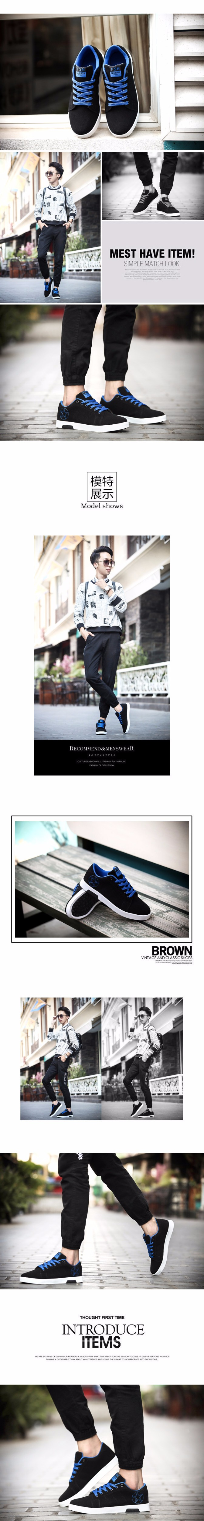 Geguistle 2018 Spring Autumn Fashion Shoes Men's Casual Shoes Breathable New Men Canvas Shoes Gay Male Lace up Shoes6