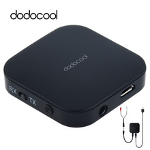 dodocool Bluetooth Audio Receiver Transmitter 3 5mm Aptx Wireless Bluetooth Adapter for TV Headphones Speakers Audio