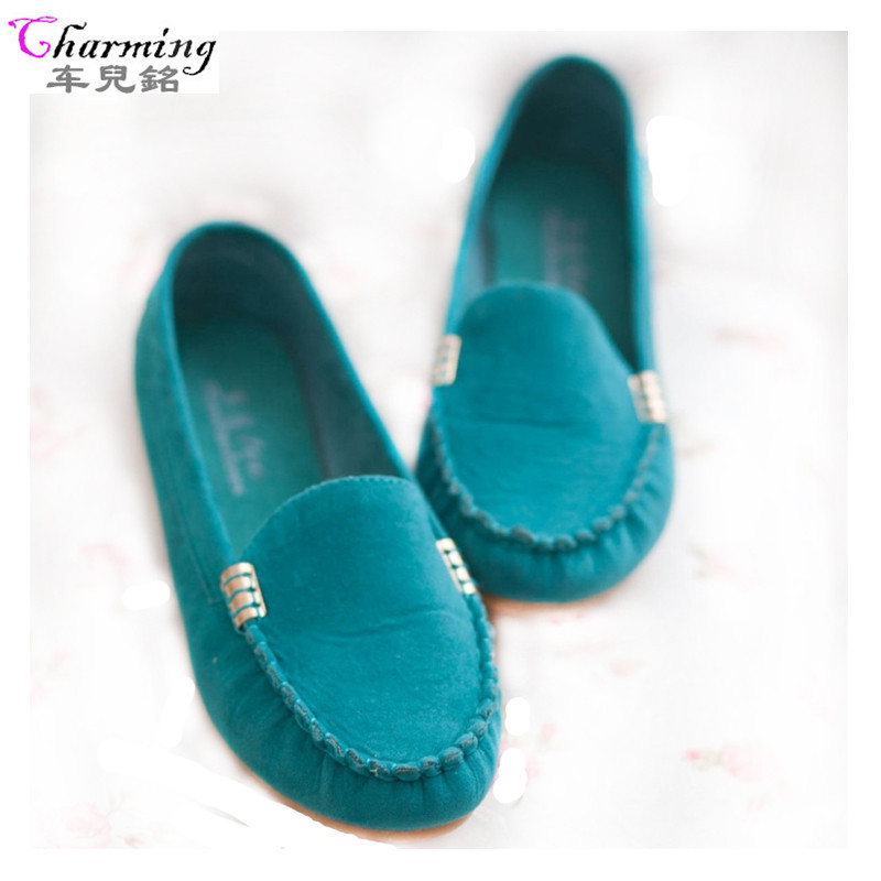 2016 New women flats candy color shoes Spring autumn cute slip on ladies flat shoes comfortable soft women casual shoes ALF179