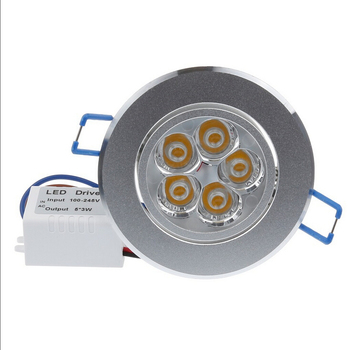 10pcs/lot Dimmable 15W 5x3W Silver LED Spot Luz luminaire Recessed Ceiling Downlight Ceiling LED Lights for Kitchen Home