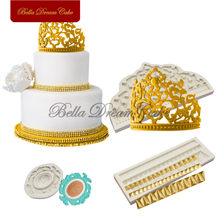 Crown Silicone Mold Cake Border Moulds Fondant Sugarcraft Mould For Wedding Decoration Cake Decorating Tools Kitchen Accessories