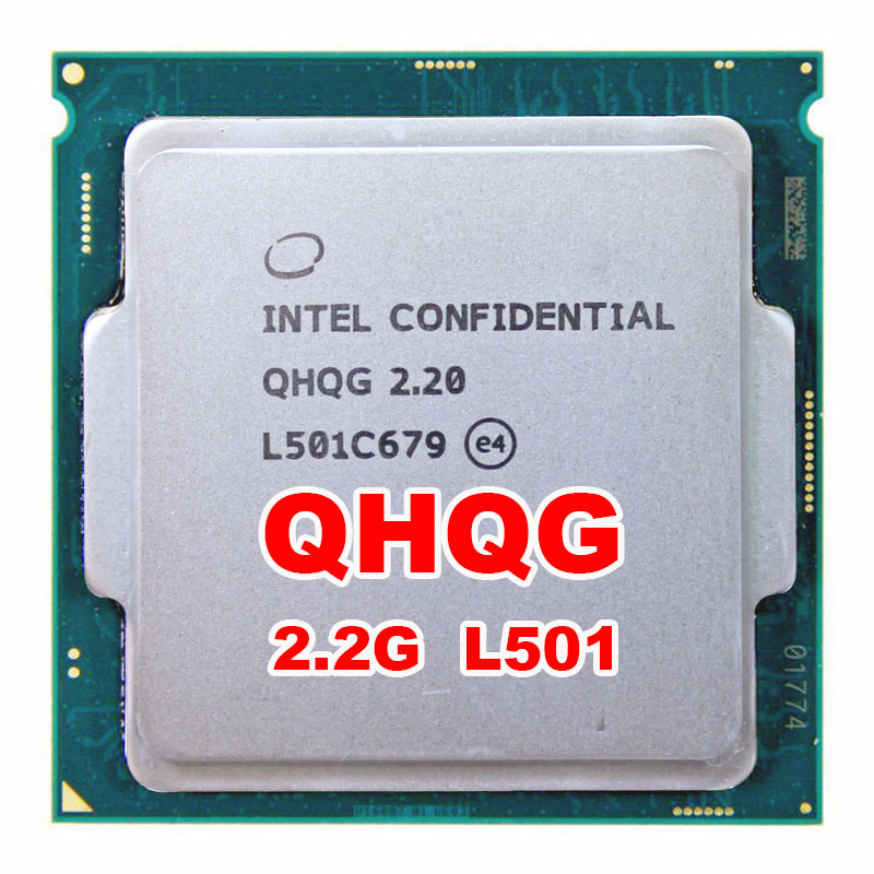 INTEL QHQG Engineering version ES of I7  processor CPU 2.2GHz L501 Q0 step quad core quad-core socket 1151 cree xml t6 led flashlight zoomable 5 mode waterproof torch tactical light lamp linterna 4000lm for rechargeable18650 battery
