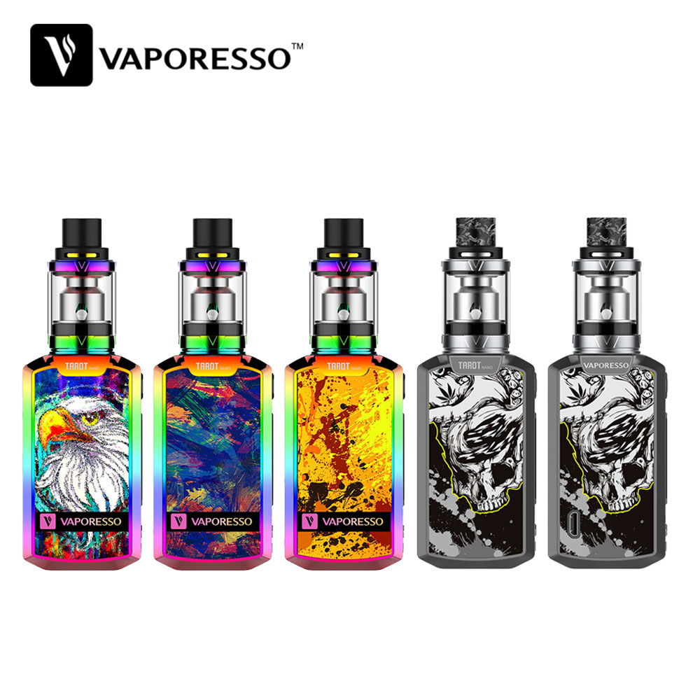 Original 80W Vaporesso Tarot Nano TC Kit with 2ml VECO Tank Built-in 2500mAh Battery OLED 0.91 Inch Screen E-cigarette Box Mod