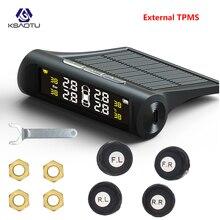 KSAOTU автомобиля TPMS шин давление мониторинга системы Солнечный мощность зарядки цифровой дисплей Авто охранной сигнализации с 4 Enternal