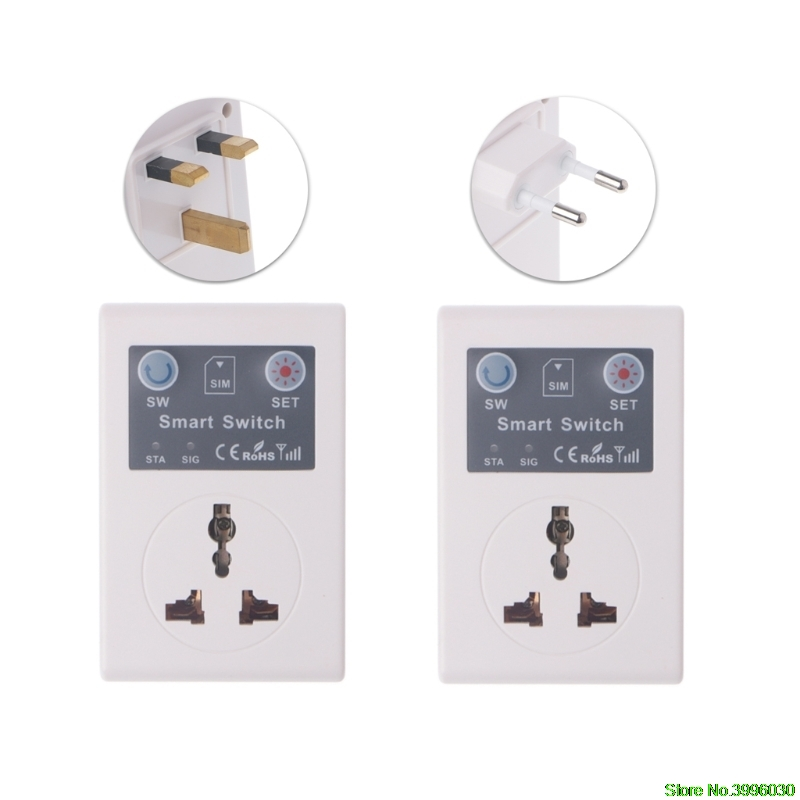 цена на EU/UK 220V Phone RC Remote Wireless Control Smart Switch GSM Socket Power Plug