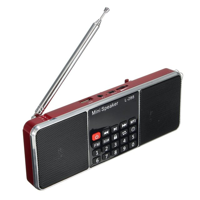 High Quality Dual Loudspeaker Mini Portable LCD FM Radio Stereo Speaker MP3 Music Player Micro Support TF USB AUX Speakers Radio