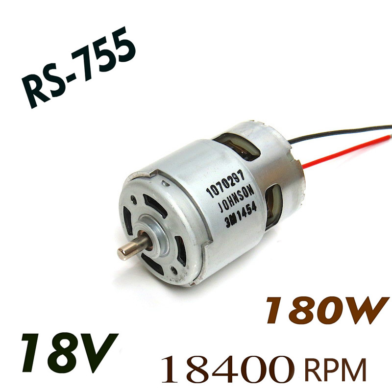 High Power 180W RS-775 Motor DC 18V 18400rpm High speed dc motor for Power tools and all kinds of models used. 775 dc motor power motor 12v13000 big model