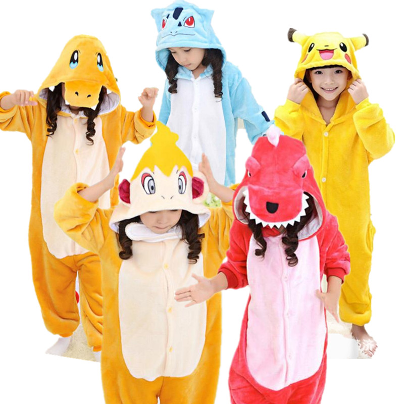 Pokemon Charmeleon Pikachu Monferno Charmander Bulbasaur Cosplay Kigu Children Halloween Carnival Costumes Kids Onesies Pajamas