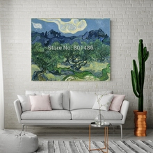 Vicent Van Gogh Olive Trees Wall Art Canvas Printed Home Decor Green Tree Landscape Painting Print on Office