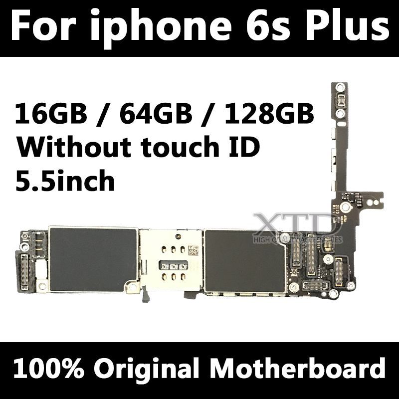 For <font><b>iPhone</b></font> <font><b>6s</b></font> plus <font><b>Motherboard</b></font> without Touch ID,Original unlocked for <font><b>iphone</b></font> 6sp Mainboard with Chips,Good Tested <font><b>16GB</b></font>/64G/128g image