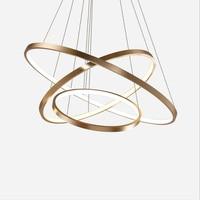 Modern LED Circle Pendant Light Home Living Room Dining room Luminaires LED Ceiling Pendant Lamp Hanging Black/White/Gold Lamps