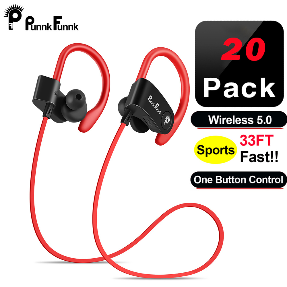 PunnkFunnk 20pack  Bluetooth 5.0 Earphone Earbuds Headset wireless headphone With Mic For iphone xiaomi huawei samsung