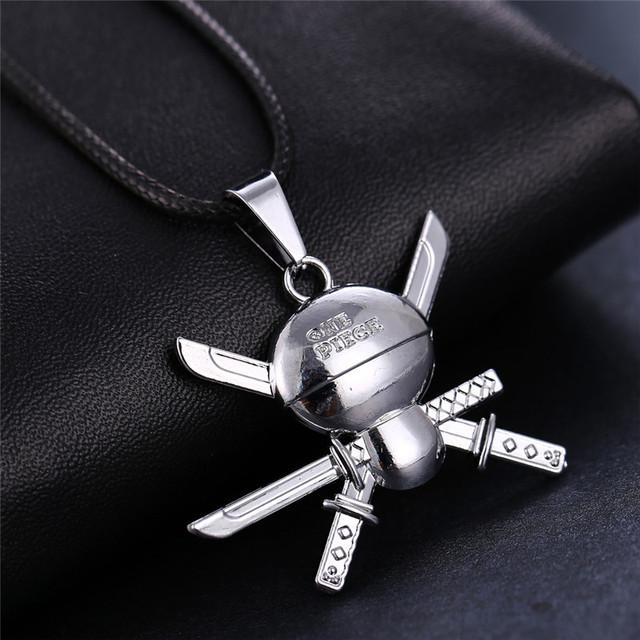 One Piece Roronoa Zoro Skull Pendant Necklace