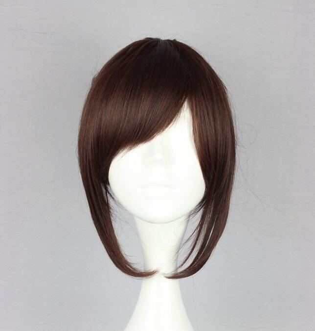 Attack on Titan Sasha Blouse 35cm 13.78 Short Straight Cosplay Wigs for Women Claw Clip Ponytail Anime Synthetic Hair Brown