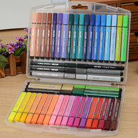 48 Colors Set Washable Large Color Pens With Triangle Barrel Kids Art And Crafts School DIY