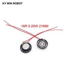 2pcs/lot New Ultra-thin Toy-car horn 16 ohms 0.25 watt 0.25W 16R speaker Diameter 21MM 2.1CM With Wire