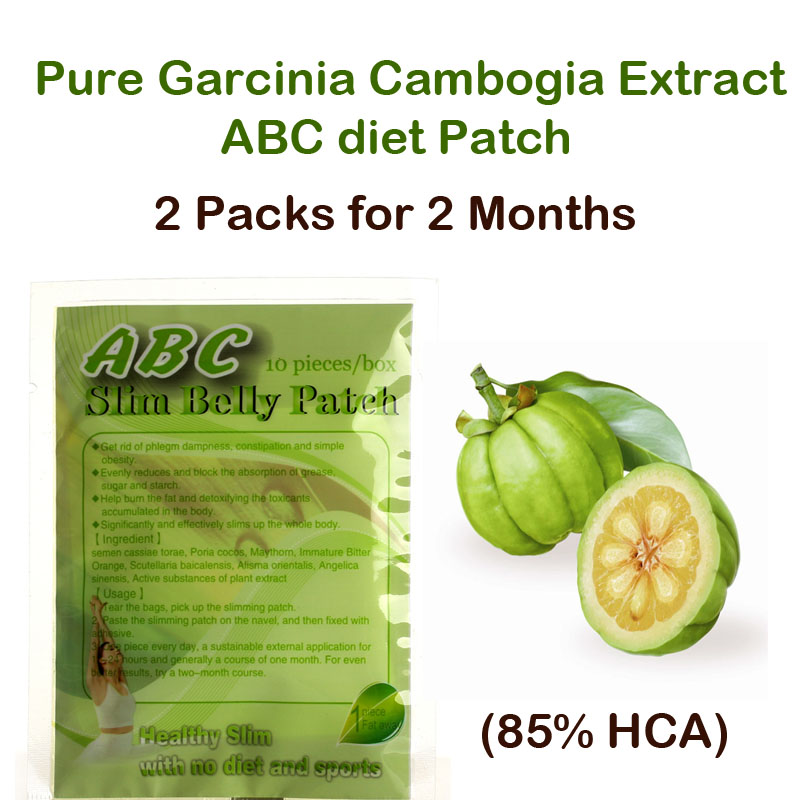 ABC diet patch Pure Garcinia cambogia extract weight loss effective Burn Fat 85% HCA 60 days supply for women & men garcinia cambogia extract powder 99% 1000g weight loss relieve pressure get a better sleep hot sale free shipping